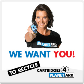 We want you to recycle Cartridges 4 Planet Ark