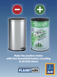 recycle your batteries for free at aldi rny news. Black Bedroom Furniture Sets. Home Design Ideas