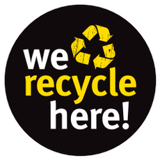 We Recycle Here Sign - click to download © Planet Ark