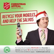 MobileMuster graphic for the Salvo's Christmas Appeal