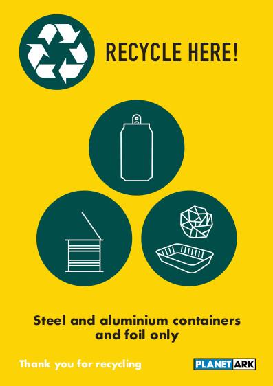 Metal containers no aerosols