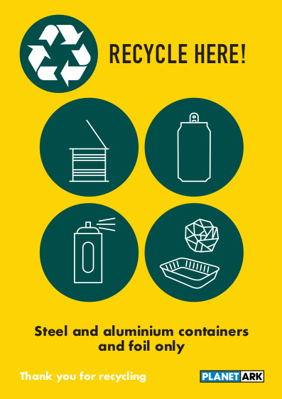 Metal containers with aerosols