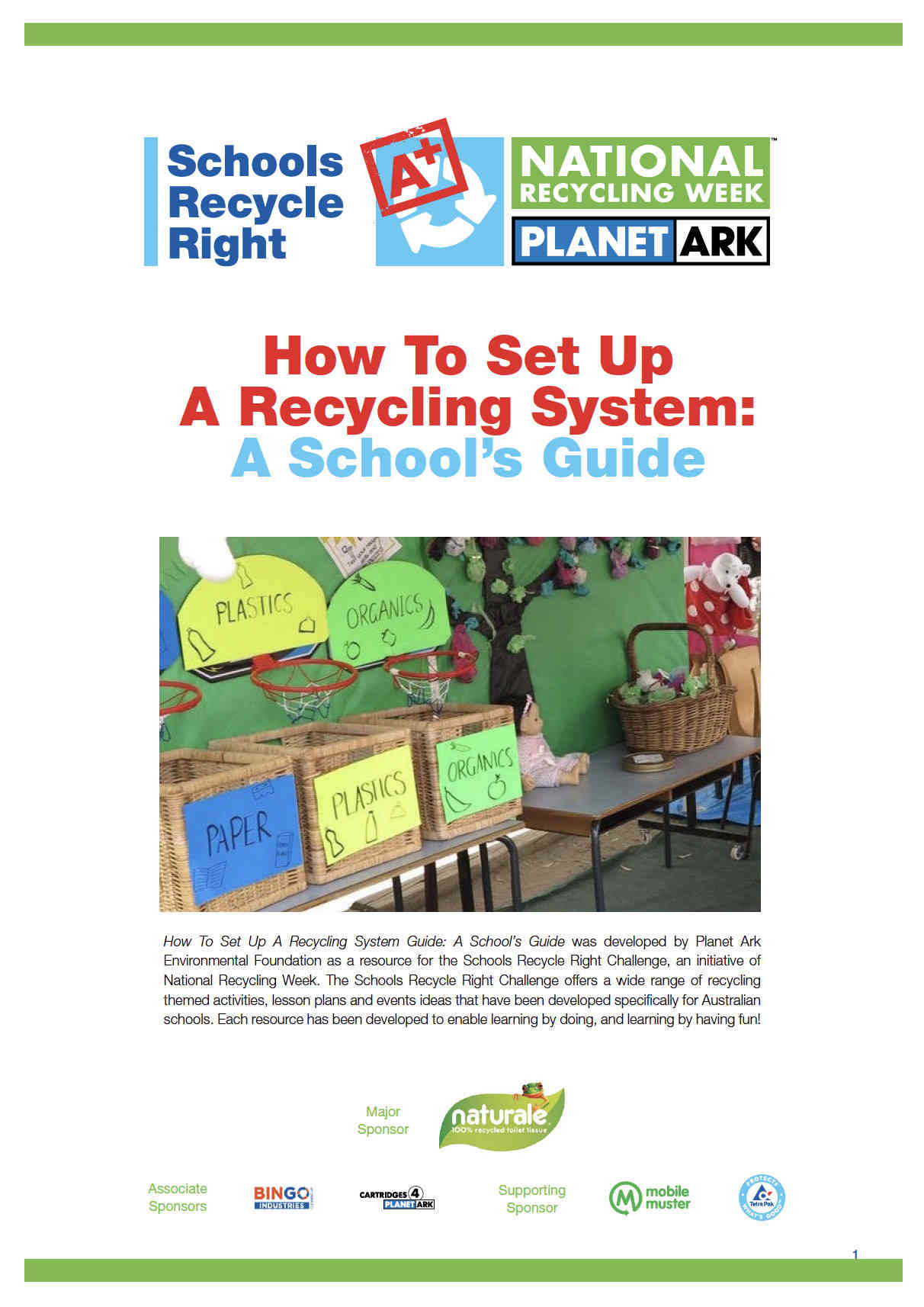 School Recycling - Planet Ark Recycling Near You